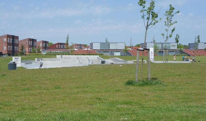 De skatebaan in de Middelburgse wijk Veersepoort.