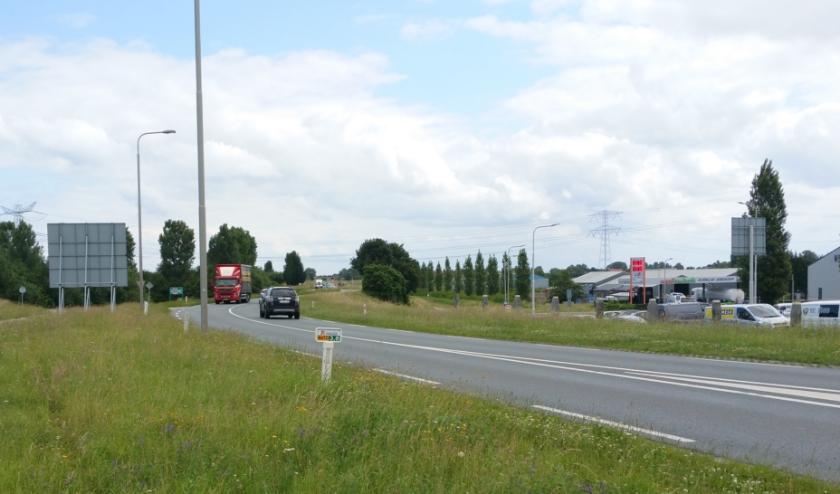 De N673 tussen Yerseke en Kruiningen is een drukke route.