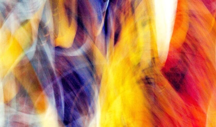 Abstractie met kleuren.