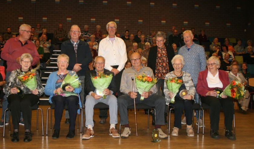 De jubilarissen van de Senioren Vereniging Vosmeer e.o.