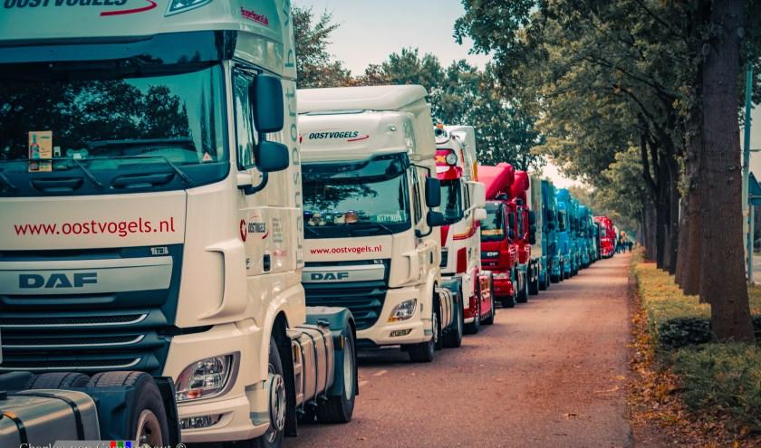 De befaamde truckersrit is vast onderdeel van het jaarlijkse Fancy Fair Feestweekend.