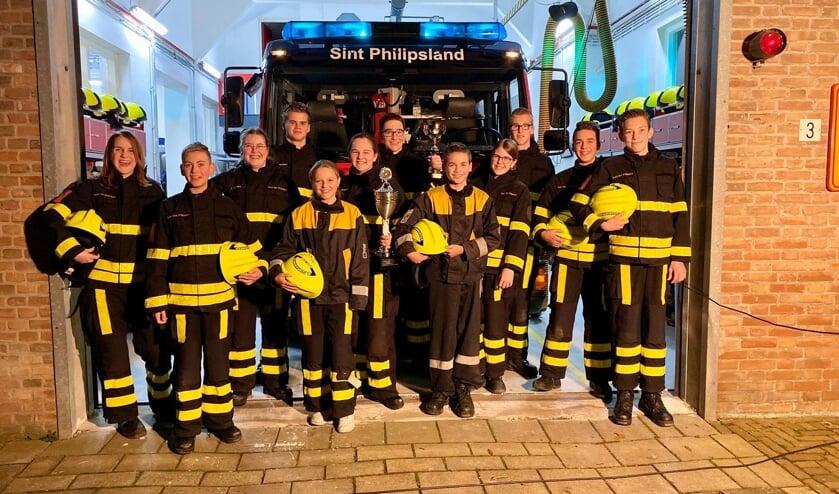 De juniorenploeg van de jeugdbrandweer Sint Philipsland heeft naam gemaakt.