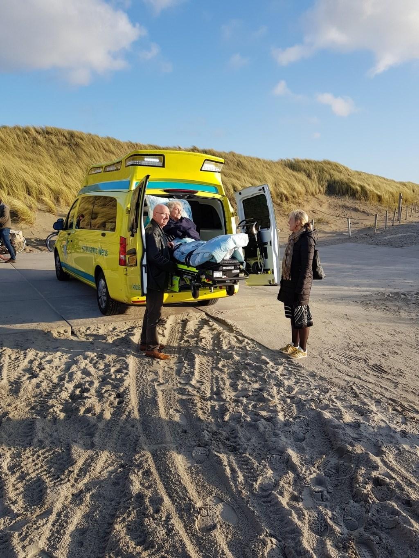 Een veel voorkomende wens is nog even de zee zien.  Foto: Stichting Ambulance Wens © Internetbode