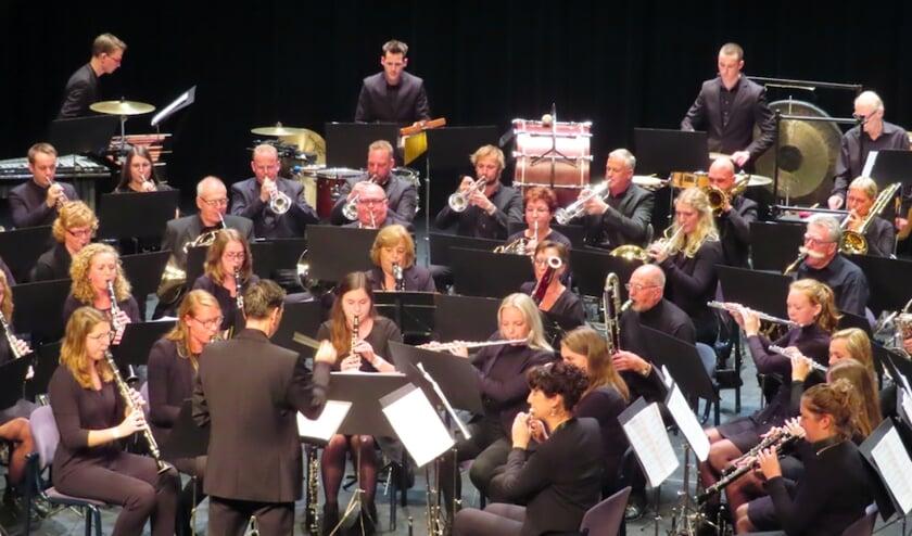 Het harmonieorkest van KMV Concordia.