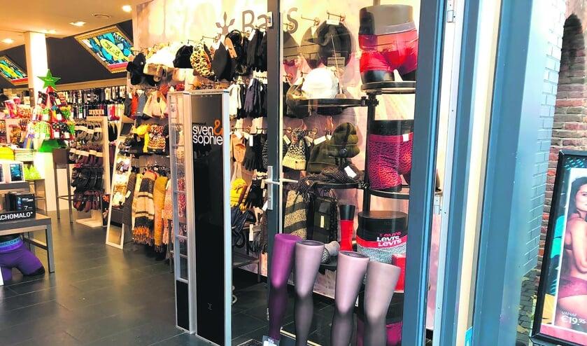 De winkel aan de Ginnekenstraat.