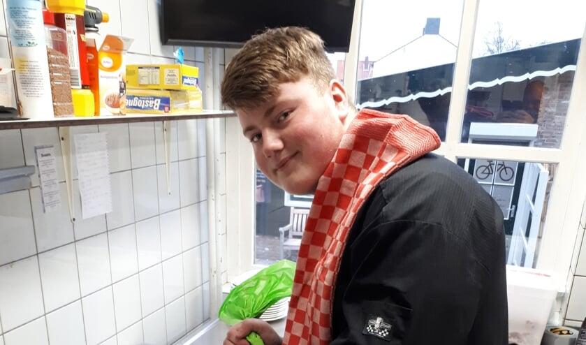 Fynn van de Vrande is leerling-kok bij De Boekanier.