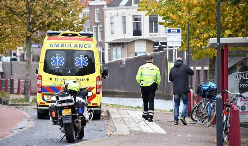 De ambulancen en politie kwamen ter plekke.