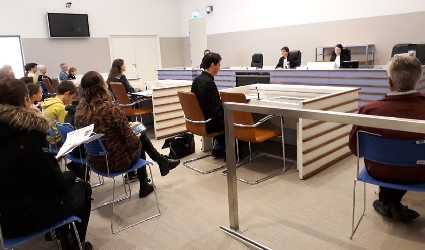 Een nagespeelde strafzitting in de Middelburgse rechtbank.