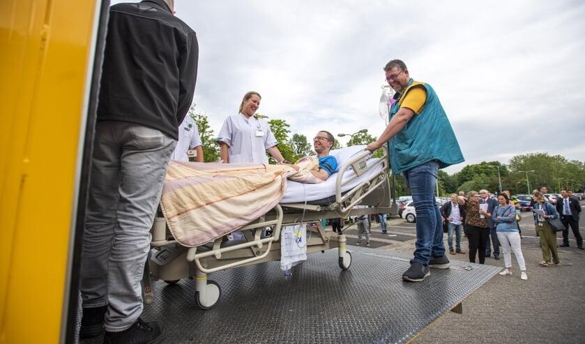 Als test werden al eerder 'Patienten'  vervoerd van Amphia Langendijk naar Molengracht