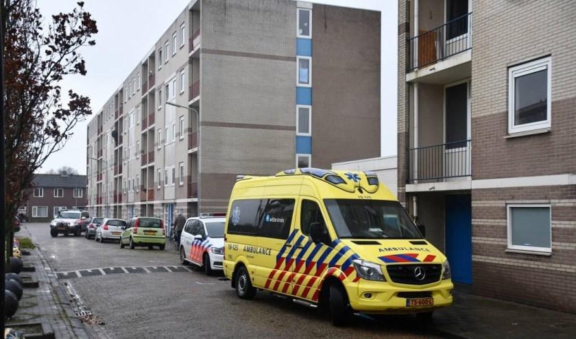 Hulpdiensten zijn uitgerukt voor het incident.