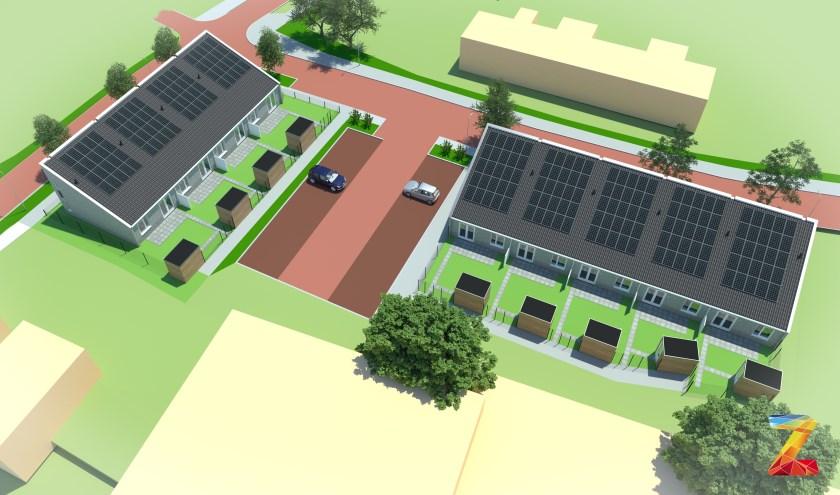 Een impressie van het woningbouwproject voor het Singelgebied in Domburg.