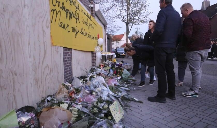 De herdenking van Ger van Zundert, woensdagavond in de Sparrenweg.