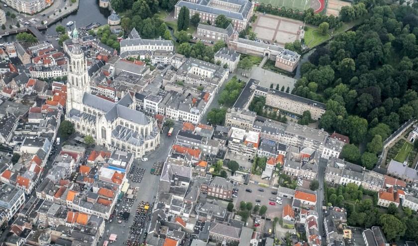 Het centrum van Breda is al eeuwen nagenoeg hetzelfde, met de kenmerkende Grote Kerk als hart.