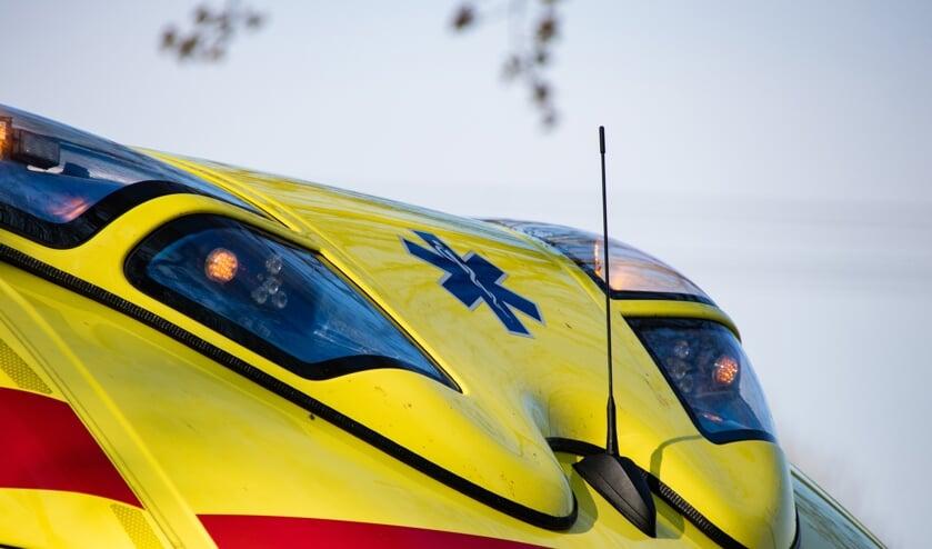 <p>Een ambulance kwam met spoed ter plaatse</p>