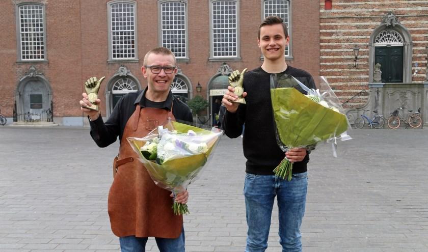 Marc Visser (links) en Arne Ruis zijn de horeca- en winkelheld van Goes.