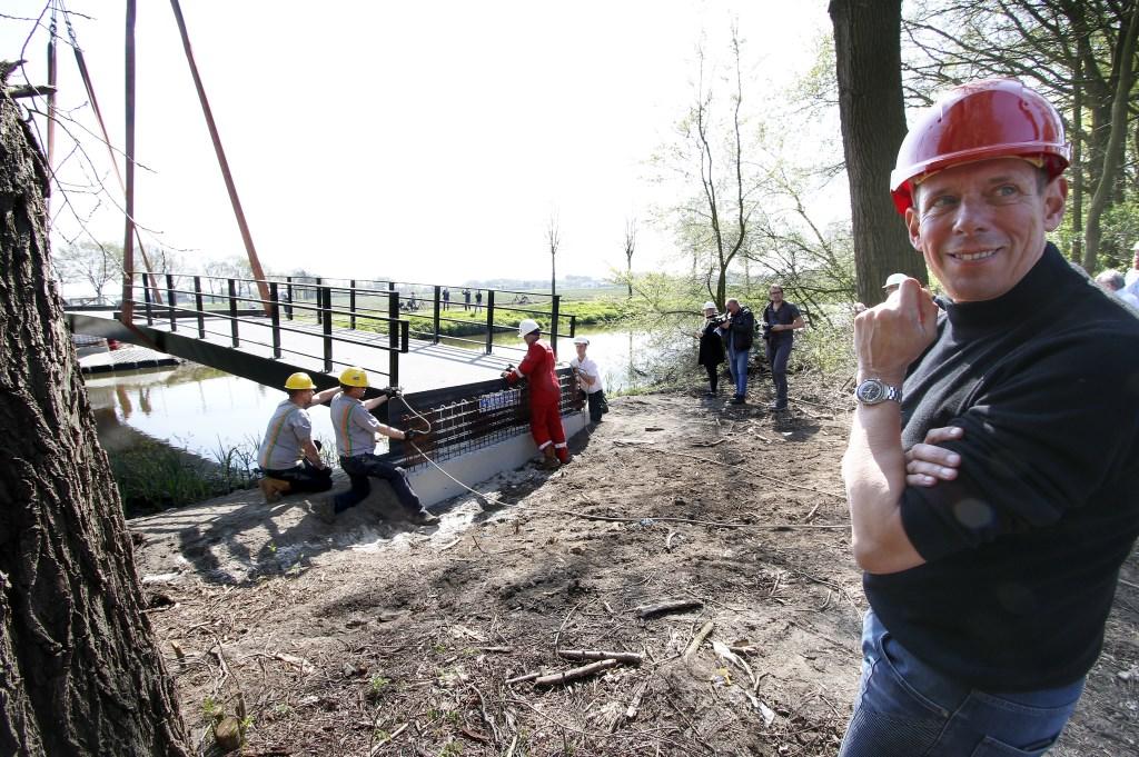Donderdag 18 april is Breda een brug rijker/ Bij de Klokkenberg verbindt een fietsbrug het landgoed met Ulvenhout. Foto: Wijnand Nijs © BredaVandaag