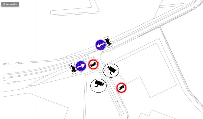 Gemeente Breda gaat camera's plaatsen in het buitengebied om sluipverkeer van vrachtwagens tegen te gaan