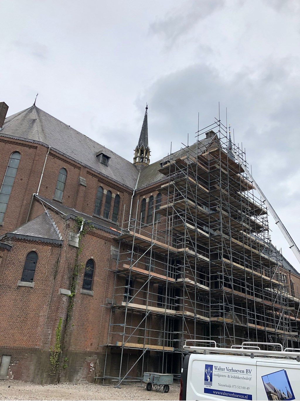 Woonzorg Nederland gaf vrijdag 3 mei het officiële startsein van de renovatie van de Heilig Hartkerk. Foto: Wijnand Nijs © BredaVandaag