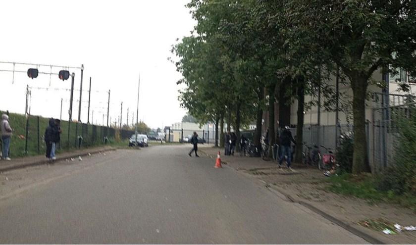 Daklozenopvang aan de Slingerweg.