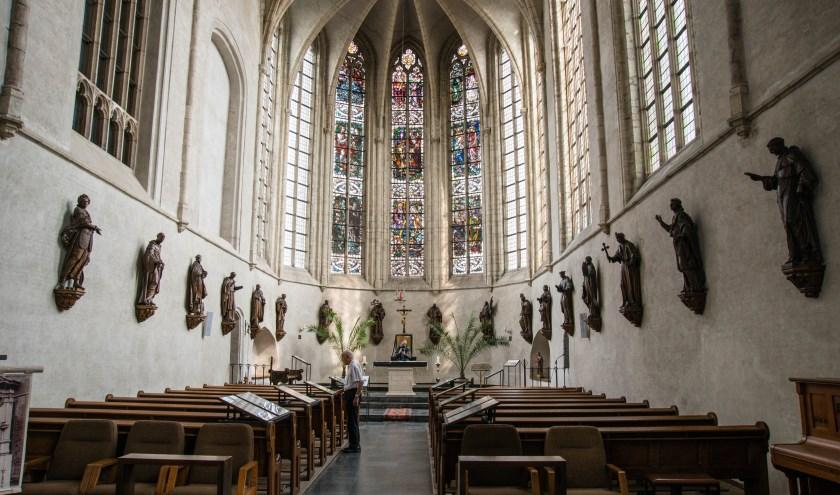 Beelden uit de 17e eeuwse koorbanken in de kerk van Wouw.