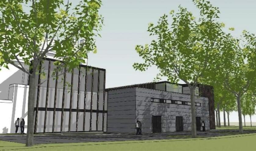 Een impressie van de nieuwbouw voor het 'Klooster van Rilland'.