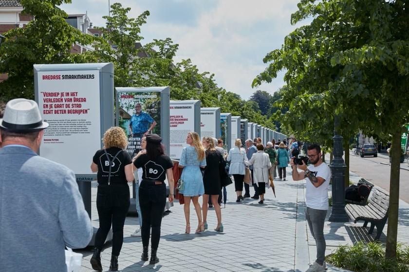 De tentoonstelling van de Smaakmakers in de Willemstraat.