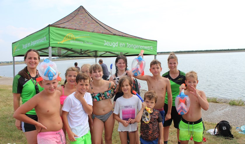 Aan de Oesterdam in Tholen was het snorkelen geblazen voor de jeugd tijdens de Summergames 2019.