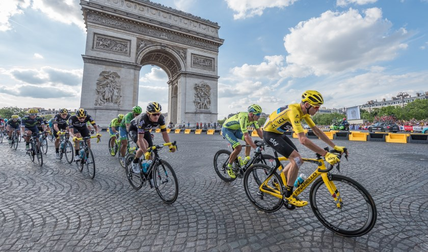 De tour de France: Foto ter illustratie