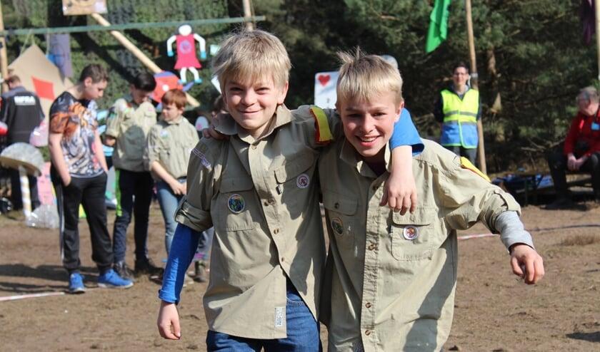 Leden van scouting Frederik Hendrik tijdens de regionale scoutingwedstrijden 2017