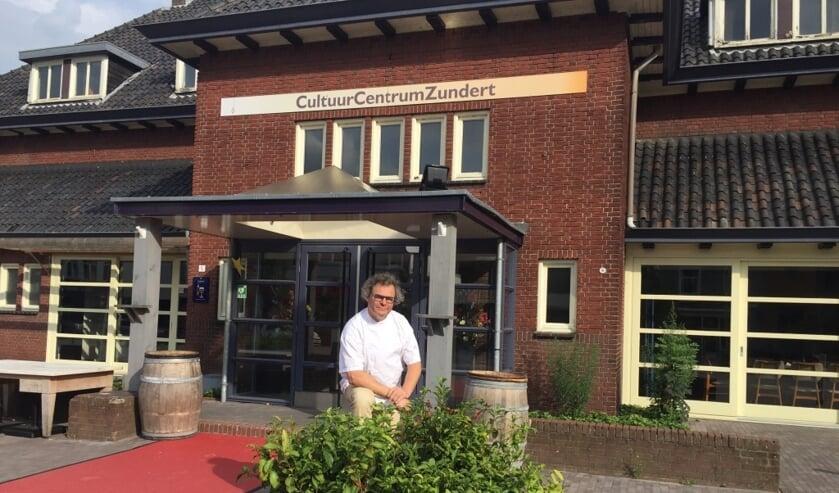 Ondernemer Peter Kesseler voor het CultuurCentrum Zundert.