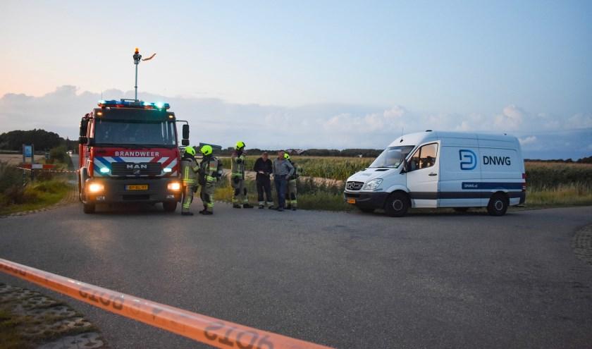 De brandweer en de netbeheerder kwamen ter plekke voor onderzoek.