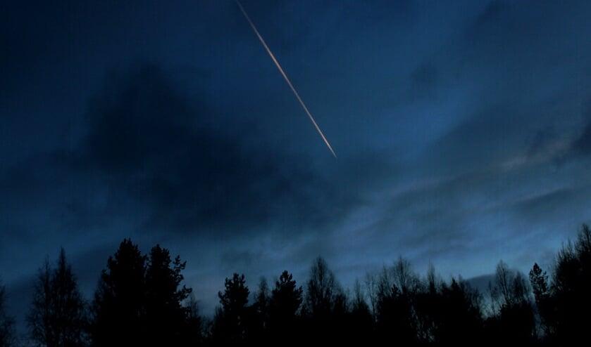 Als het helder weer is zijn er 65 vallende sterren per uur te zien.