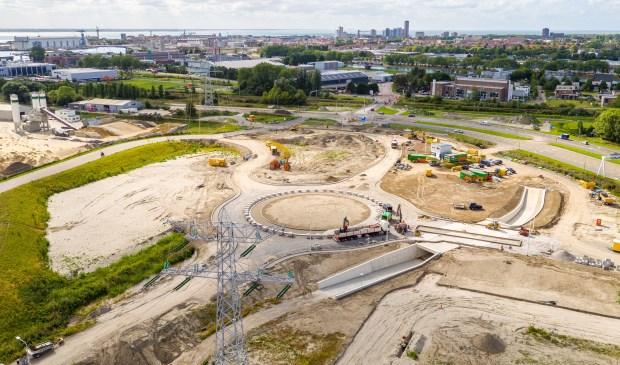 De nieuwe rotonde met fietstunnel is bijna klaar. Foto: Gemeente Vlissingen © souburgsche courant