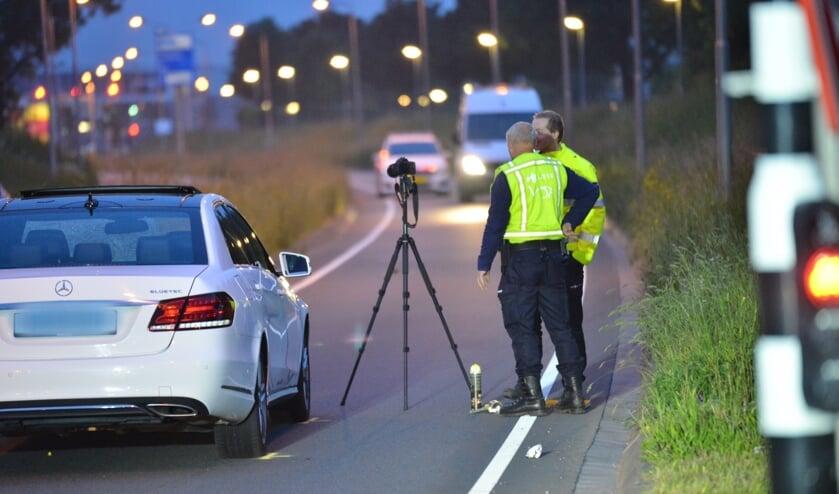 De politie deed na het ongeval ook al onderzoek op de Westerparklaan.