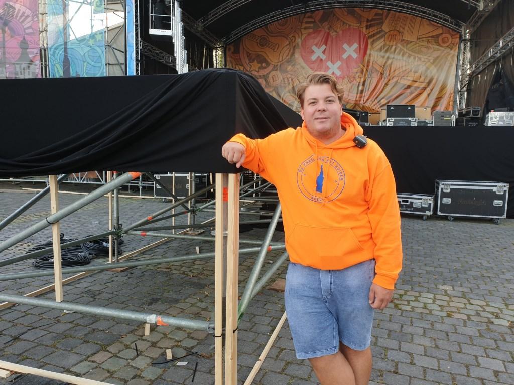 Pascal Quijs is één van de vijf organisatoren  Foto: Hanneke Marcelis © BredaVandaag