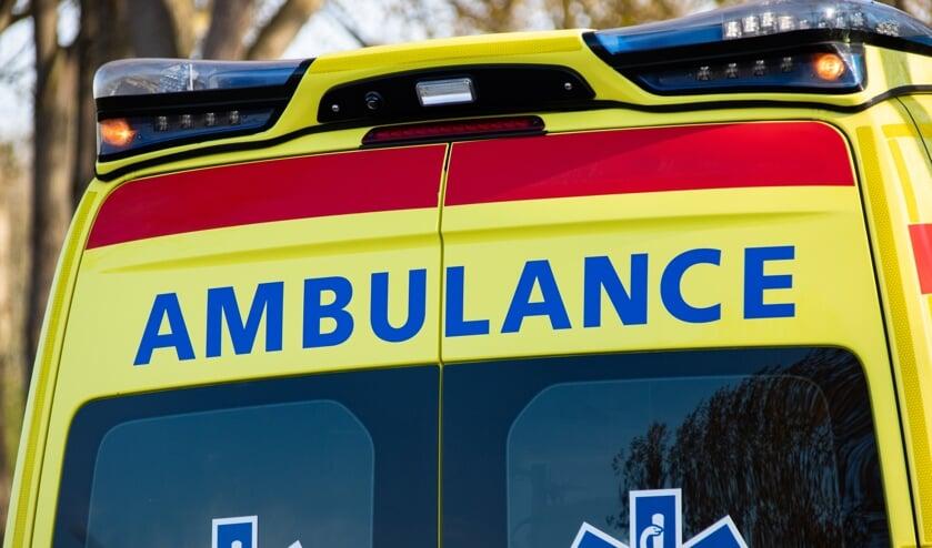 Een ambulance kwam met spoed ter plaatse