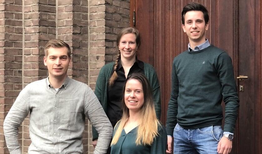 Youri de Graaf, Simone Konings, Wim Hofstede (links) en Denise Robbeson (boven).