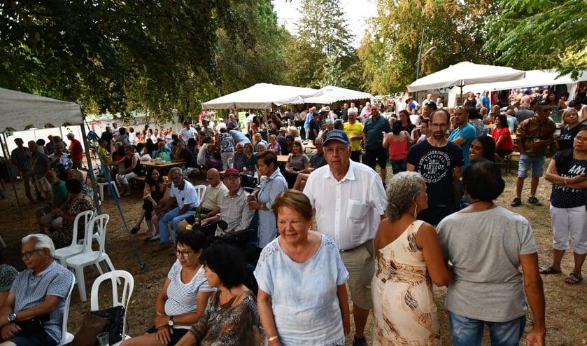 De Pasar Malam is een druk bezocht evenement in het Oderkerkpark. ARCHIEFFOTO