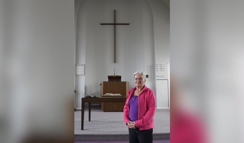 <p>Marjan Schouten van de Vrije Evangelische Gemeente Wemeldinge.</p>