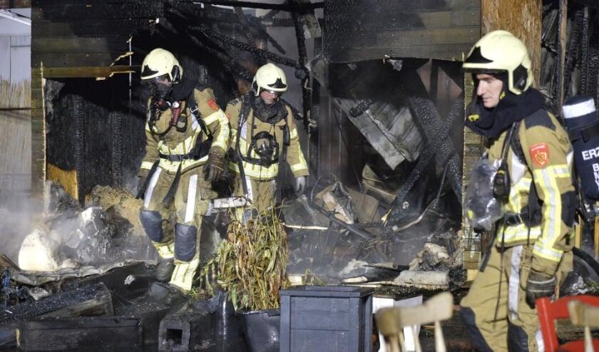 Een groot deel van het gebouw ging in vlammen op.
