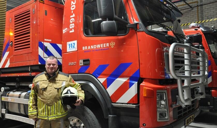 <p>Danker Kouwen, brandweervrijwilliger in Steenbergen: &#39;We hebben naast het uitrukken voor brand of ongevallen ook vaak veel plezier&#39;&nbsp;</p>