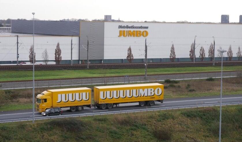 Het distributiecentrum van de Jumbo in Breda.