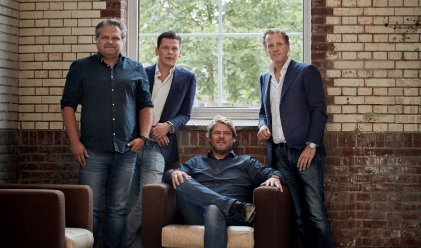 De directie van Fightclub, van links naar rechts Cees Faes, Stefan Nuijten, Maarten Elshove en Michiel Mol