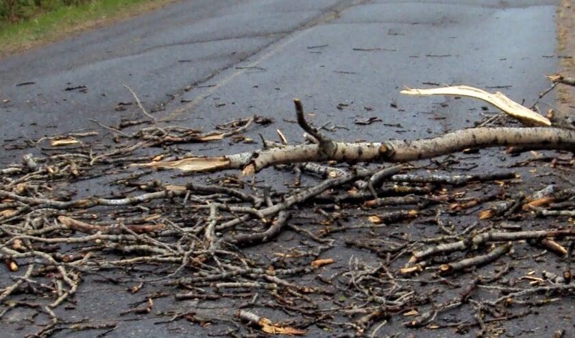 Eerdere stormschade, foto ter illustratie