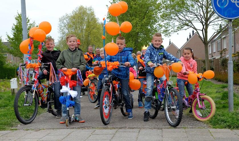 Een optocht met versierde fietsen zit er dit jaar niet in.