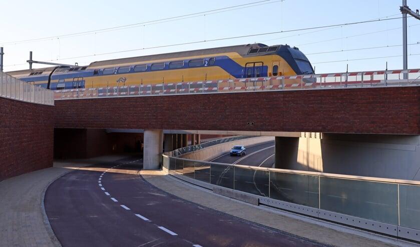 Het treinverkeer is dit weekend gewoon doorgegaan. FOTO COBY WEIJERS