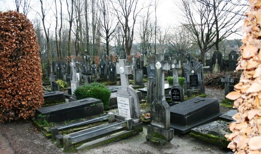 Een begraafplaats. Foto ter illustratie