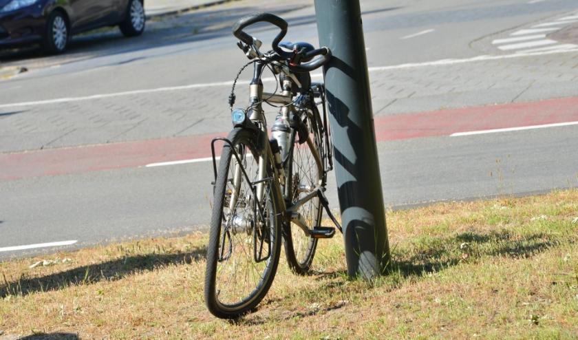 De fiets liep veel schade op bij het ongeval.