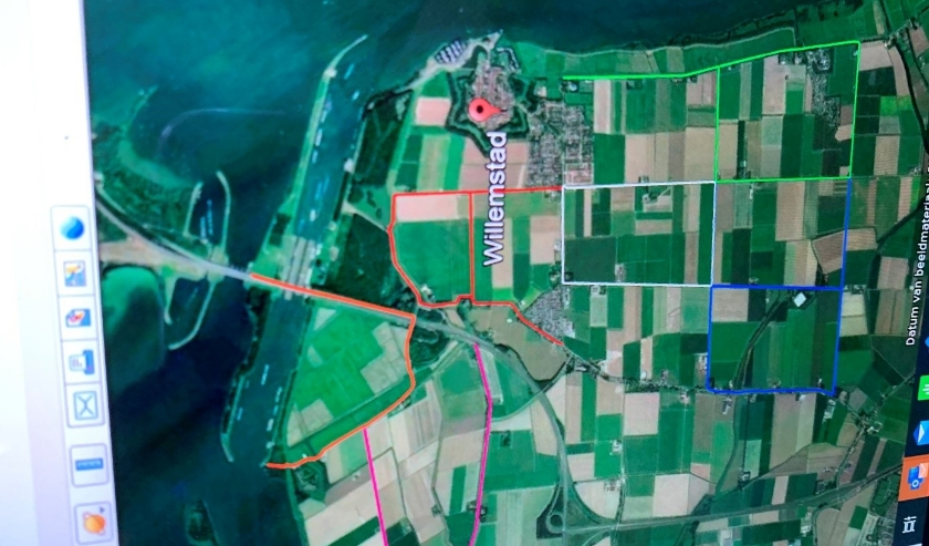 De letters ROPARUN op een google maps afbeelding. FOTO BOUDEWIJN BAAN