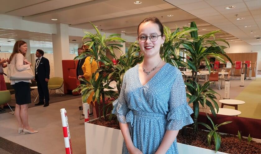 Babette Leenhouts mocht vandaag aanschuiven bij de Koning
